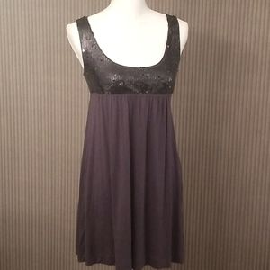 Forever 21 gray/purple/blue sequin top tank dress